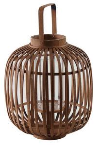 Aubry-Gaspard - lanterne ronde en bambou naturel - Gartenlaterne