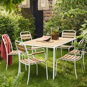 BOIS DESSUS BOIS DESSOUS - salon de jardin en bois et métal fsc - Garten Esszimmer
