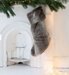 Graham & Green - fausse fourrure - Weihnachtssocke