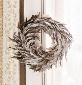 Graham & Green - silver feather - Weihnachtskranz