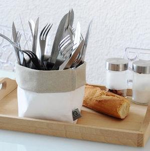 ROTIN ET OSIER -  dafne blanc gris - Besteckkasten
