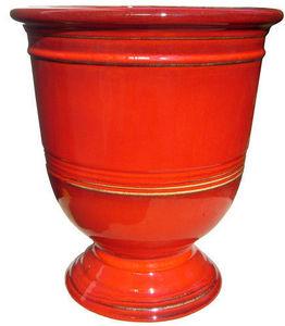 AMBIANCES & MATIERES DIFFUSION - aubagne lisse rouge - Garten Blumentopf