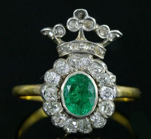 Fabian de MONTJOYE - bague en diamant et émeraude - Ring