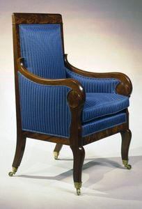 CARSWELL RUSH BERLIN - rare restauration bergere - Marquise Sessel