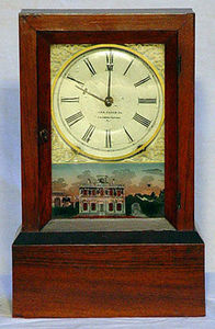 KIRTLAND H. CRUMP - unusual rosewood eight day time and strike mantel  - Tischuhr