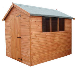 Langhale And Taylors Garden Buildings - traditional standard apex shed 10'x8' - Holz Gartenhaus