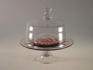 Artfull : Art For Glass - medium cloche and swirl stand - Schutz Glocke