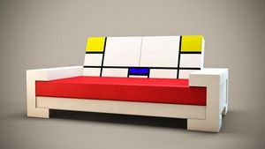 GLOBAL DESIGN SPIRIT - coll swann géometrical - Sofa 3 Sitzer