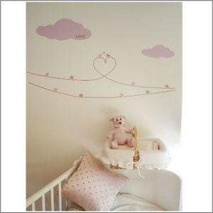 LILI POUCE - stickers les oiseaux d'amour - décor 2 kit de 22  - Kinderklebdekor