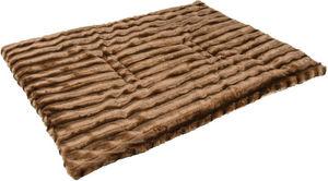 ZOLUX - tapis warmy en fourrure synthétique marron 75x50cm - Hundebett