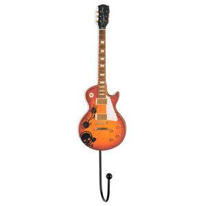 La Chaise Longue - patère guitare electro en fibre de bois 25x6cm - Wandhaken