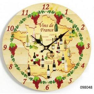 FAYE - horloge vins de france - Wanduhr