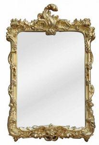 Demeure et Jardin - miroir baroque à coquille doré petit modèle - Spiegel