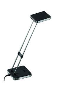 COMFORIUM - lampe à poser noir et argent base et tête carrée - Schreibtischlampe