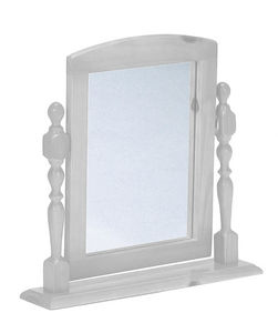 COMFORIUM - miroir en pin massif pour coiffeuse blanc lasure - Spiegel