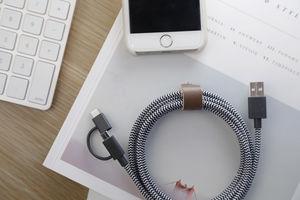NATIVE UNION - belt cable twinhead - Batterieaufladegerät