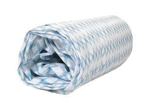 BLANC CERISE - drap housse - percale (80 fils/cm²) - uni moka - Spannbettlaken
