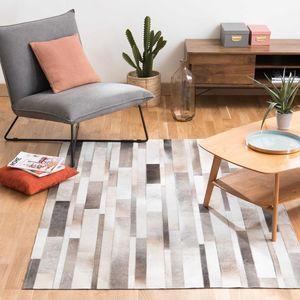 Maisons du monde - tapis en cuir 160x230 art - Moderner Teppich