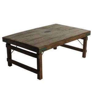 Mathi Design - table basse en bois antic - Rechteckiger Couchtisch
