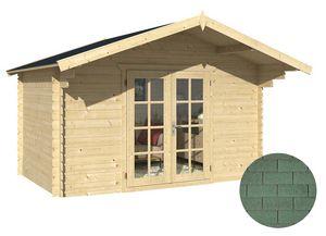 GARDEN HOUSES INTERNATIONAL - abri de jardin en bois ancenis bardeau droit vert - Holz Gartenhaus