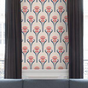 ISIDORE LEROY - papier peint tulipes - Tapete