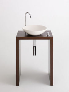 Design & Handwerk - wengetisch furniert mit tadelaktschale - Waschtisch Möbel