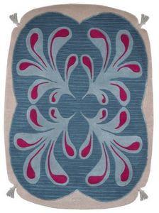 PASCALE GAUTHIER - pompon bleu - Moderner Teppich