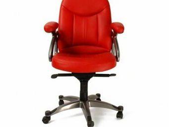 Miliboo - fauteuil de bureau enzo - rouge - Bürosessel