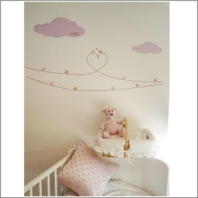 LILI POUCE - Kinderklebdekor-LILI POUCE-Stickers les oiseaux d'amour - décor 2 kit de 22