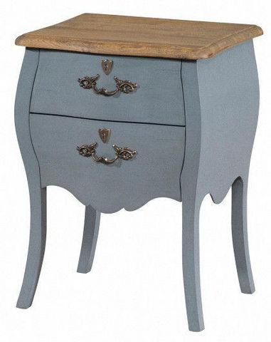 MOOVIIN - Nachttisch-MOOVIIN-Chevet baroque gris style louis xv 45x36x62cm