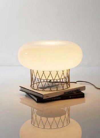 Forestier - Tischlampen-Forestier-LAMPE BLOW GRIS CLAIR