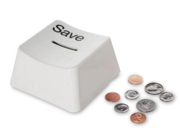 WHITE LABEL - Spardose-WHITE LABEL-Tirelire en forme de touche de clavier Save cagnot