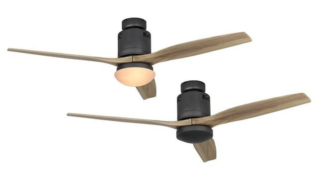 Casafan - Deckenventilator-Casafan-Ventilateur de plafond DC, moderne 132 Cm Gris bas