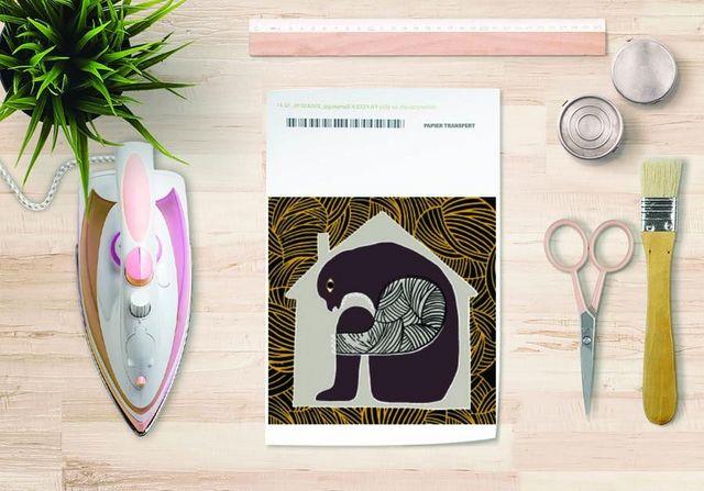 la Magie dans l'Image - Verlegung-la Magie dans l'Image-Papier transfert Maison Gris