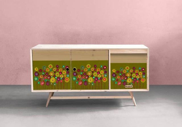la Magie dans l'Image - Sticker-la Magie dans l'Image-Adhésif Bouquet Vert