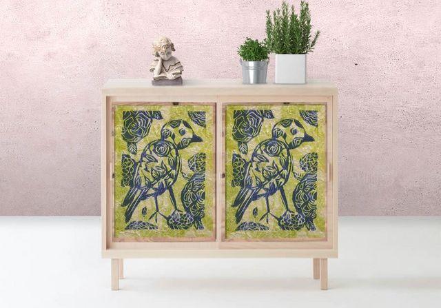 la Magie dans l'Image - Sticker-la Magie dans l'Image-Adhésif Oiseau Batik Vert