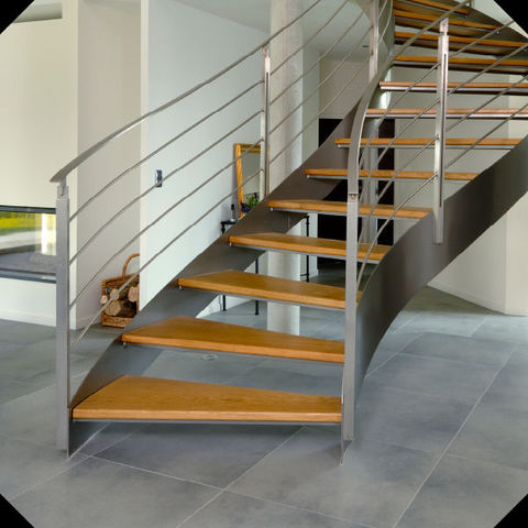 Atelier Benoît Hérouard - Freitragende Treppe-Atelier Benoît Hérouard-Escalier Balancé