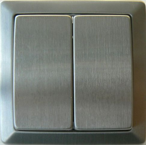 TOOSHOPPING - Lichtschalter-TOOSHOPPING-Interrupteur double Va et Vient Inox