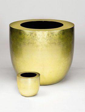 DESIGNER PLANTERS - Blumentopf-DESIGNER PLANTERS-Gold Leaf Finished