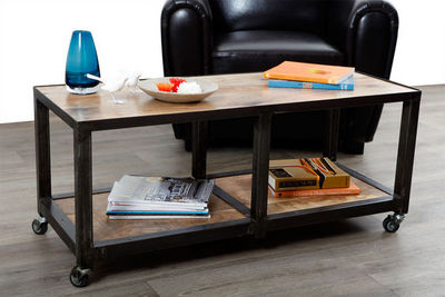 Miliboo - Roll Couchtisch-Miliboo-ATELIER TABLE BASSE 2 CASIERS