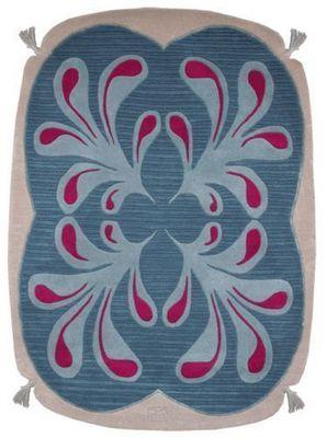 PASCALE GAUTHIER - Moderner Teppich-PASCALE GAUTHIER-POMPON bleu
