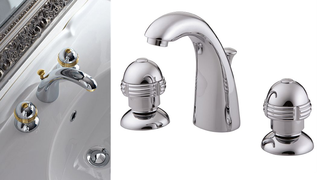 ESPRIT DU BAIN Mezclador lavabo 3 orificios Grifería Baño Sanitarios   
