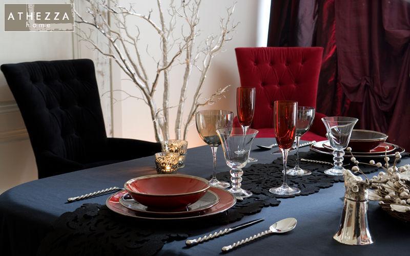 Athezza Plato llano Presenta-platos Vajilla Comedor | Rústico