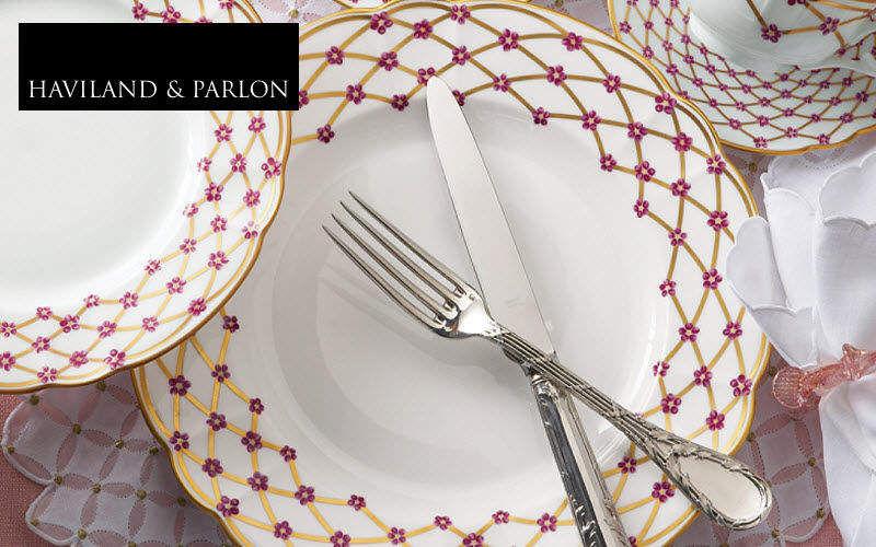 ROBERT HAVILAND PARLON Plato hondo Presenta-platos Vajilla  |