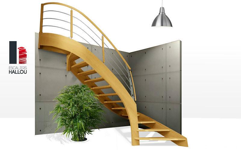 HALLOU ESCALIERS Escalera con tramo curvo Escaleras/escalas Equipo para la casa  |