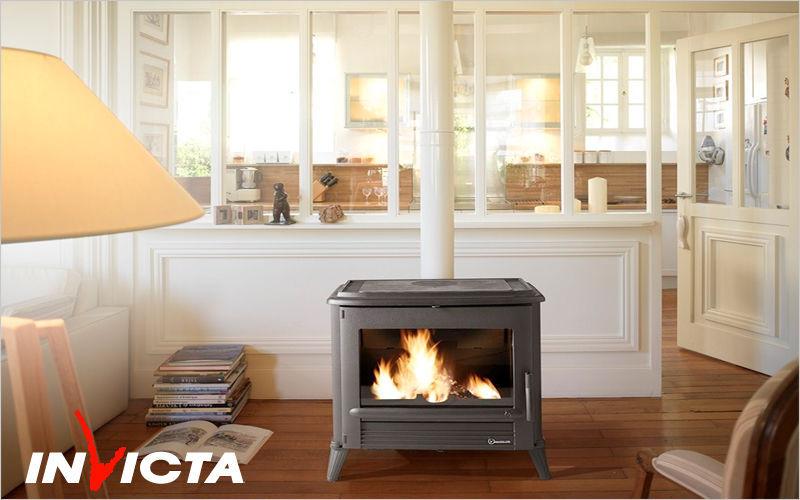 INVICTA Estufa de madera Estufas e instalaciones de calefacción Chimenea Salón-Bar | Rústico