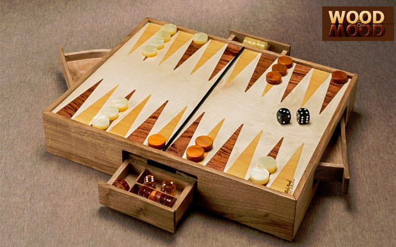 WOOD AND MOOD Backgammon Juegos de salón Juegos y Juguetes  |