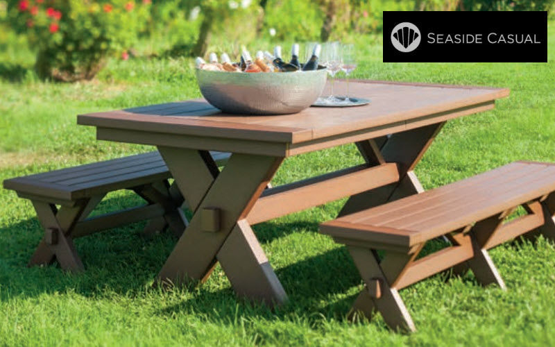 Seaside Casual Furniture Mesa de picnic Mesas de jardín Jardín Mobiliario   