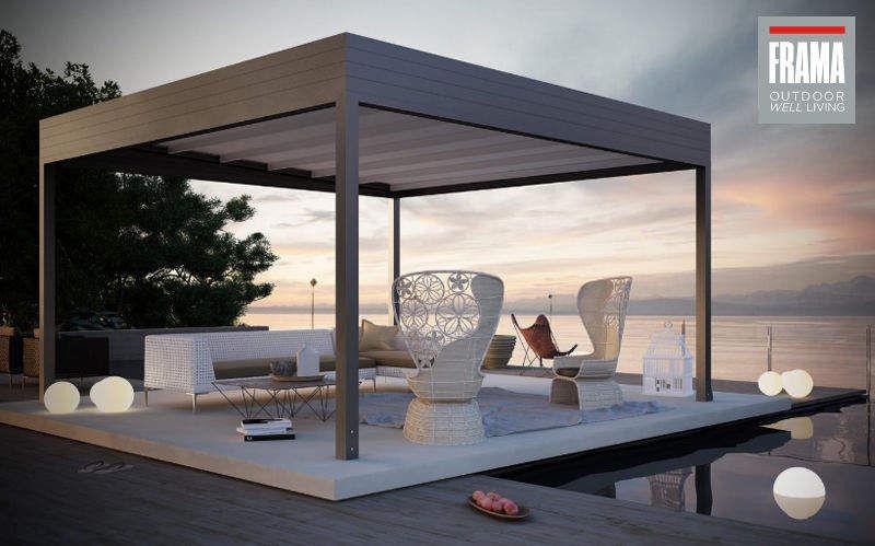 FRAMA Cubierta para terraza Sombrillas y estructuras tensadas Jardín Mobiliario   