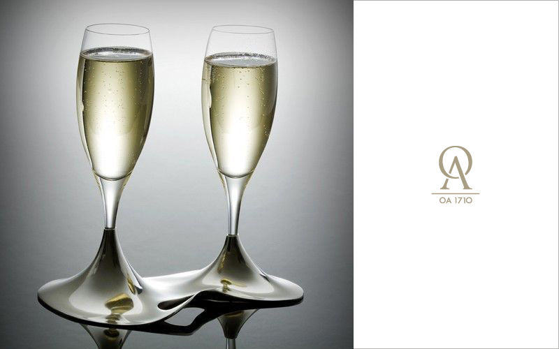 L'orfevrerie d'Anjou Flauta de champán Vasos Cristalería  |